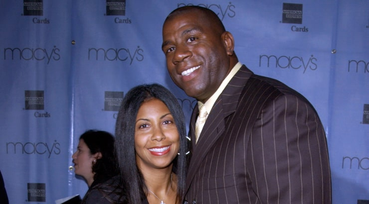 African American couple Magic and Cookie Johnson