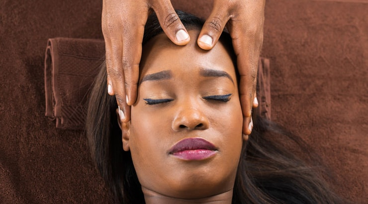 Massaging brings scalp relief from tight braids