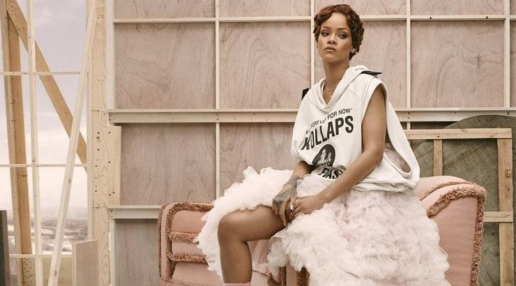 Rihanna new short brown curly hair cut