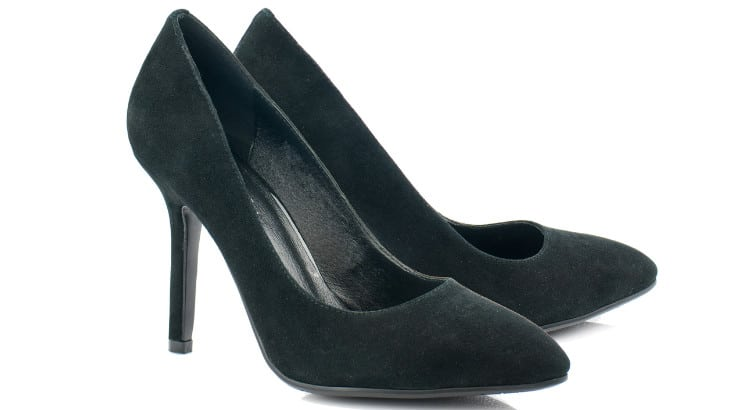 A pair of black pumps