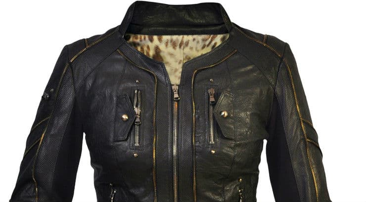 A black leather jacket