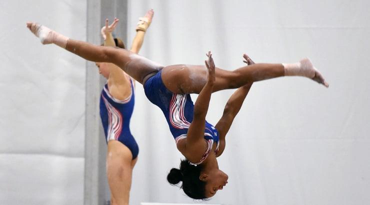 Simone Biles And Gabby Douglas - Black African American Women At The 2016 Rio Olympics