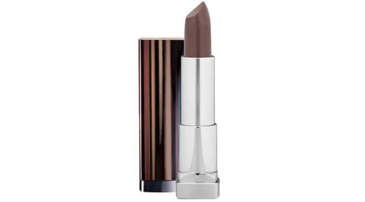 Maybelline Barely Brown lipstick for dark skin color