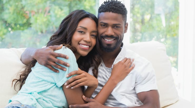 A happy African American couple