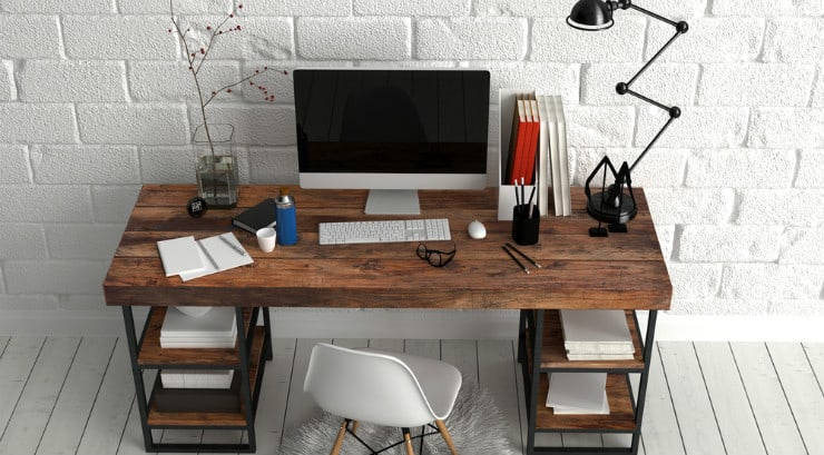 Organized home office, great for African American self employed women