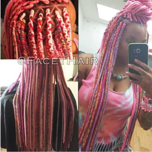 Unicorn hair protective style