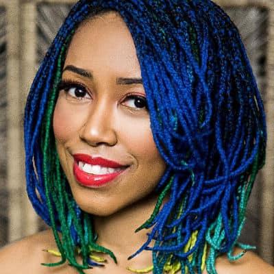 Blue Yarn Braids