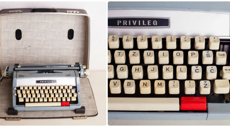 This typewriter makes a good present