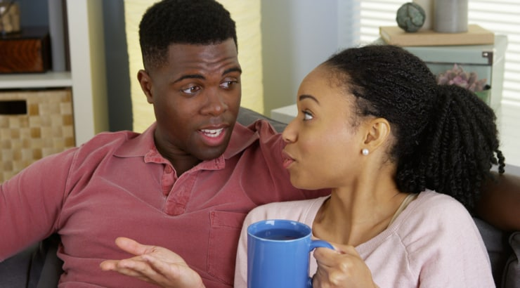 Signs a man likes you, friendly arguing happens between you