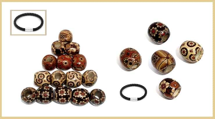 African Wood Beads Hair Accessory