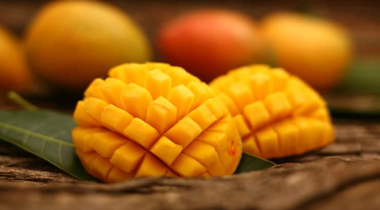Mangos are used in a natural black skincare recipe