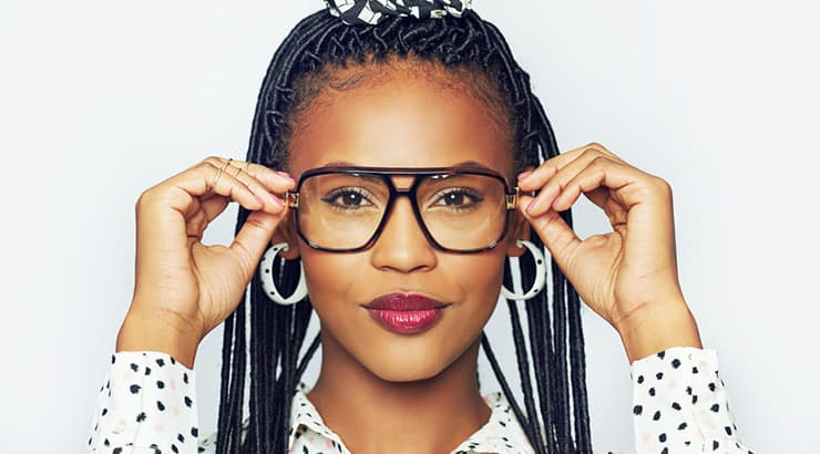 Top 6 Makeup Brands For Black Skin Conclusion - African American Woman With Glasses