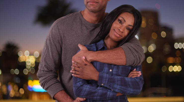 Black Couple Embracing Each Other Even After One Has Cheated