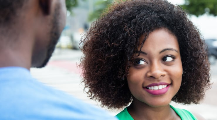 Black Woman Flirting With A Man Who Is Not Her Mate