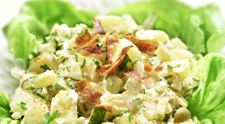 Potato Salad With Lettuce Base