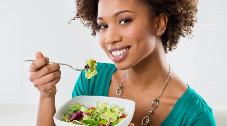 African American Woman Transitioning Slowly into Her Vegan Diet