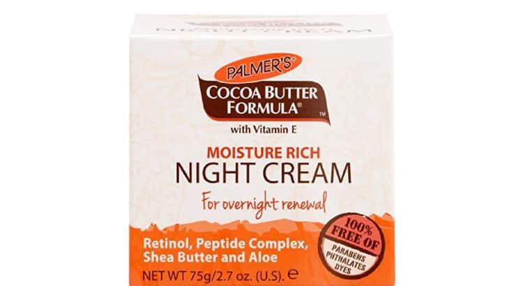 Palmer's Cocoa Butter Formula Moisture Rich Night Cream for black skin