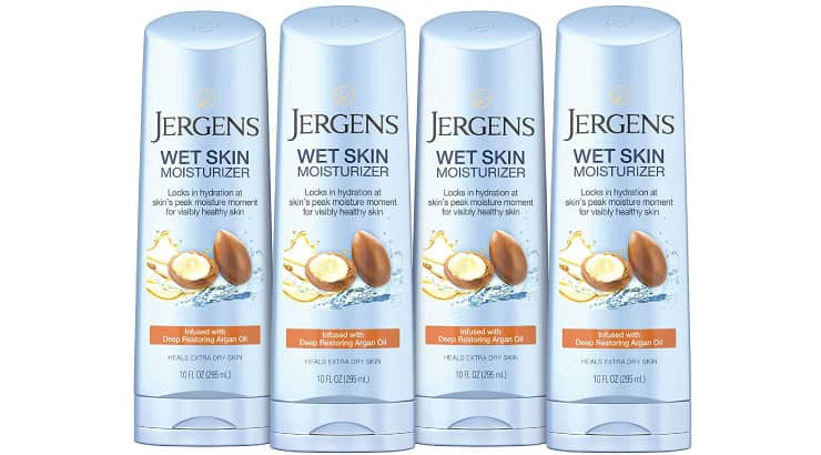 Jergens Wet Skin Body Moisturizer With Restoring Argan Oil