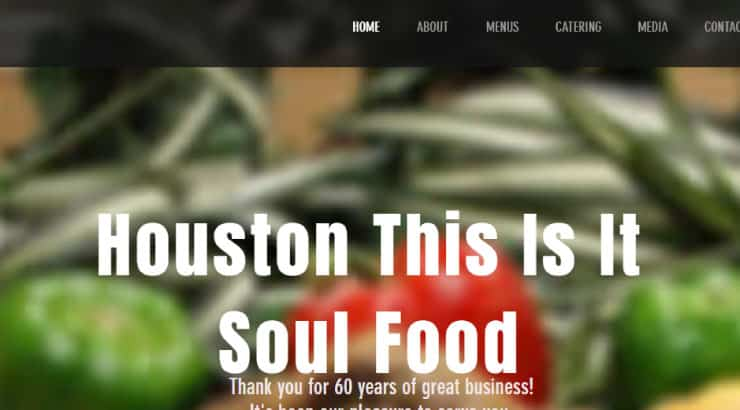 "Houston's ""This Is It"" Soul Food"