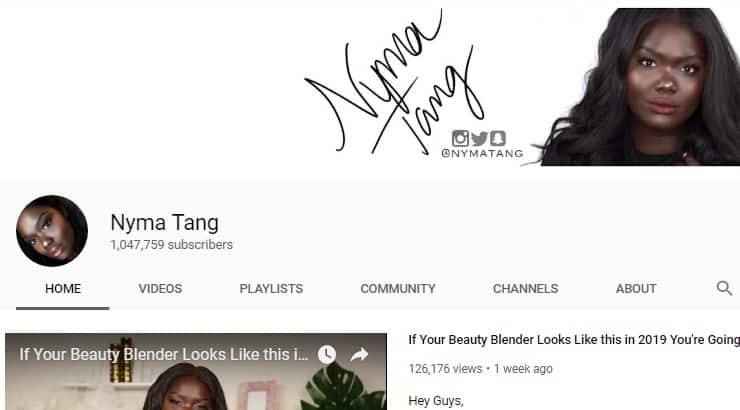 Nyma Tang Black Female Youtuber