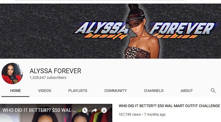 Black Female Youtuber Alyssa Foreverr