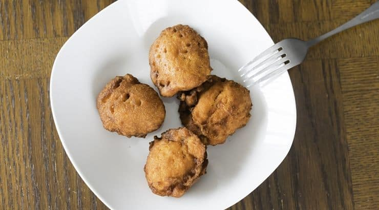 Akara is a bean cake or fritter from West Africa.