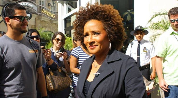 Wanda Sykes is an ebony lesbian who is also a comedienne and actress.