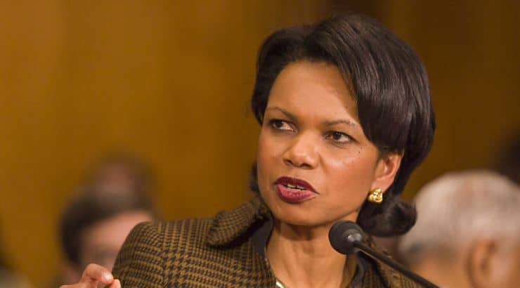 Condoleezza Rice is a black politician with a bachelors, masters, and PhD.