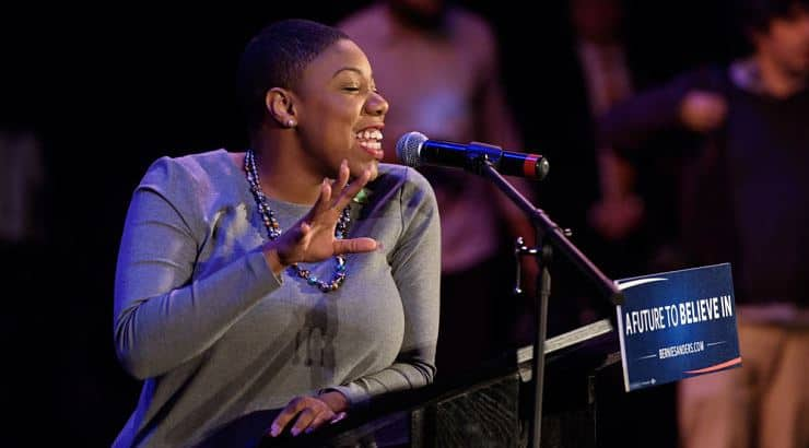 Symone Sanders works in politics and graduated from Creighton University with a degree in business administration.