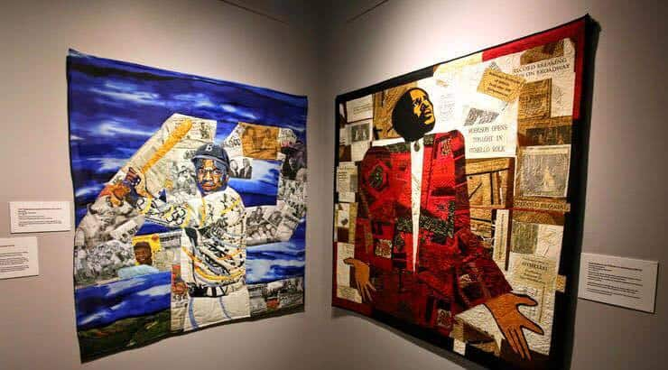 Black female artist, Bisa Butler, has displayed her quilted art at the Smithsonian.