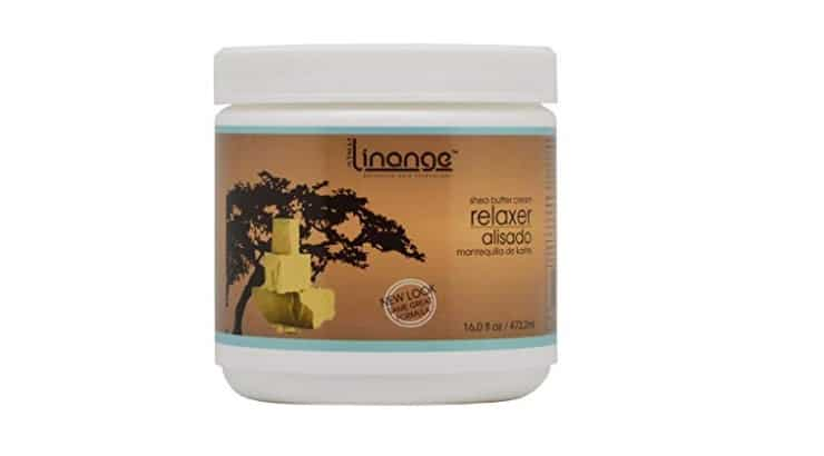 Shea butter is a great protective and moisturizing ingredient used in Linange's afro hair relaxer.