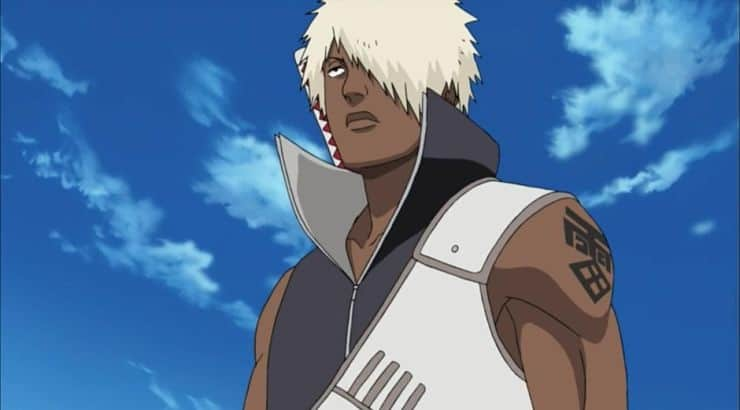 Darui is a black male anime character with white hair who appears on Naruto.