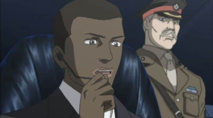 "James Ironside is a black anime character in the series ""Blood+."""