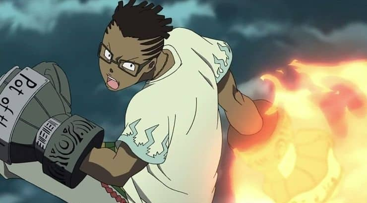 "Kilik Rung is a black character from ""Soul Eater"" who has dark skin and dreadlocks."