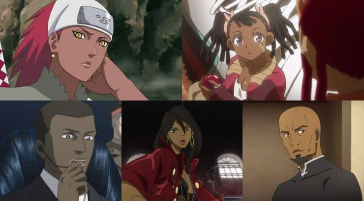 There are multiple black characters in anime with accurate portrayals of black people.