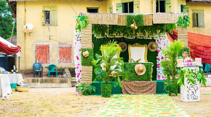 Extravagance of decor is one key element at traditional Nigerian weddings.