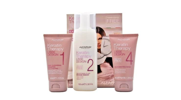 The Alfaparf Keratin Treatment kit comes with shampoos and conditioners that will help strengthen the treatment.