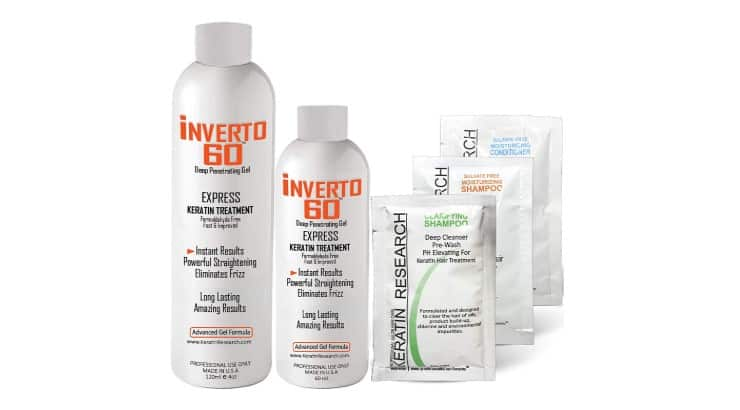 INVERTO 60 is a one of a kind keratin treatment that can last up to 9 months.