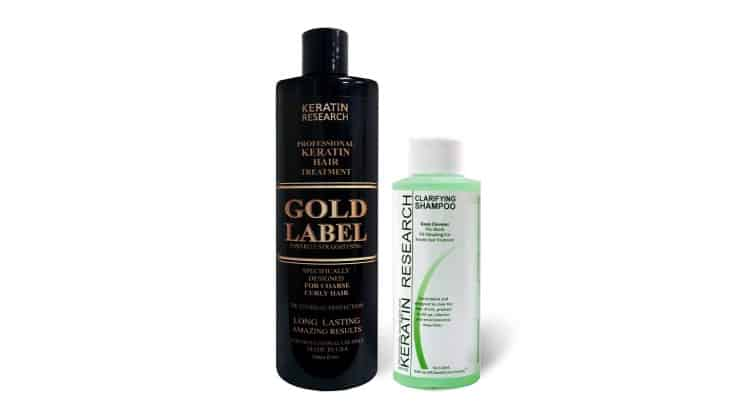 Keratin Research Gold Label Keratin Treatment was specially formulated for black women with coarse hair.