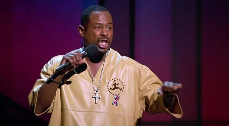 Martin Lawrence got his start on stand-up before branching into TV and movies.