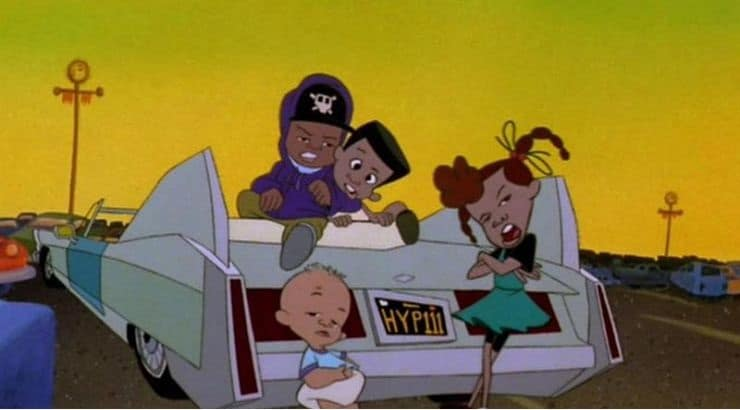 Bebe's Kids is an animated black comedy about man forced to deal with his girlfriend, her girlfriend, and their children.