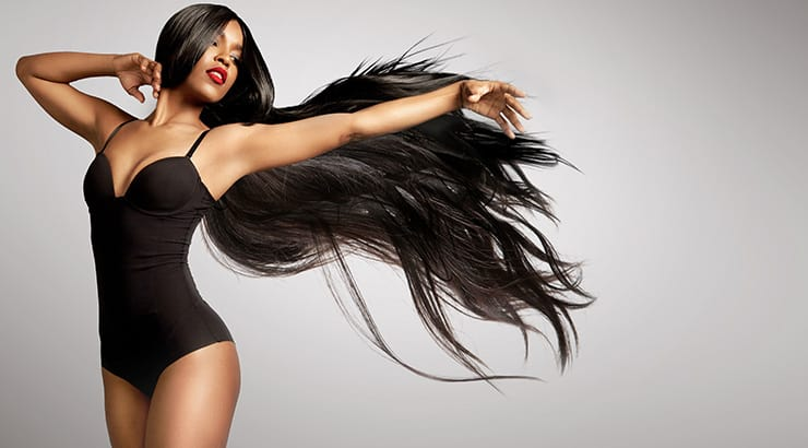Lace front wigs on black women example