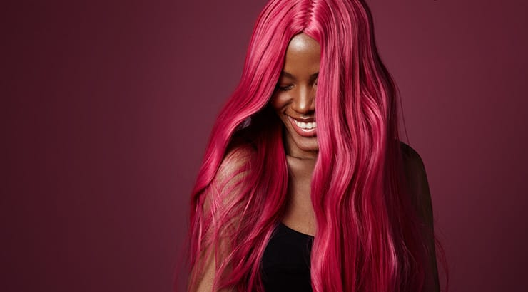 Black Girl With Pink Hair