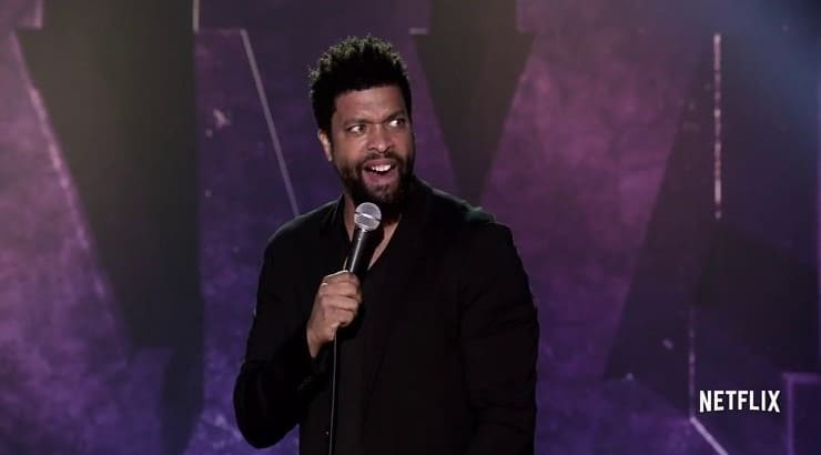 DeRay Davis is a comedian who got his start acting in comedic shows before gracing the stage as a stand up comic.