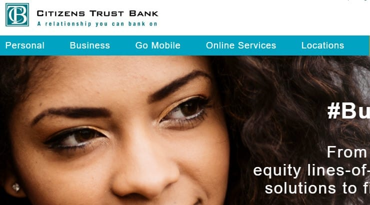 Citizens Bank is a black owned bank centralized in the south in the Atlanta region.