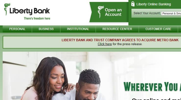 Liberty Bank is a black owned bank with numerous branches located around the country.