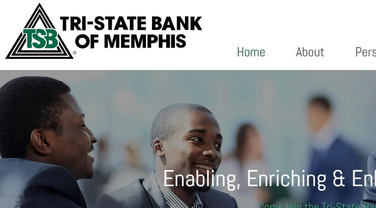 Tri State Bank is a black owned bank in the southern United States.