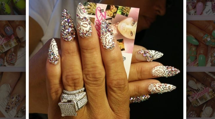 Blessed By Beedy Nails is a New Orleans nail salon that specializes in beaded designs.