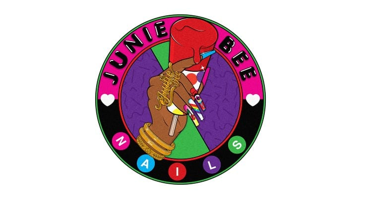 Junie Bee Nails in New York City has many add on options that include 3D art and nail piercings.