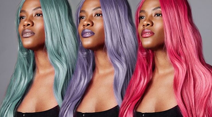 Black Woman With Different Colored Wigs